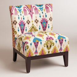 Aberdeen Darby Chair - I love the pattern and colors on this chair. It's just the perfect thing to add some fun to a living room.