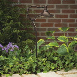 Kichler - Kichler Cotswold Outdoor Landscape Lighting Fixture in Bronze - Shown in picture: Path & Spread 1-Lt 12V in Aged Bronze