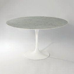 Mobital Furniture - Beauty Round Marble Top Dining Table - DTA-BEAU-CARR-ROUND - Beauty Collection Dining Table