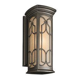Joshua Marshal - One Light Olde Bronze Outdoor Wall Light - One Light Olde Bronze Outdoor Wall Light
