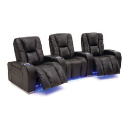 Alexander Home Theater Seating - Alexander Home Theater Seating - Imagine the impact of a full cinematic experience right in your own home! Our Patriot Collection Home Theater Seating combines unparalleled comfort, sophisticated design and all the features you need to help createthe ultimate home theater. This modular system is available in straight or curved configurations. You can customize the configuration to fit your family size and living space with as many seats across as you need. This product ships with fully attached arms and wedges.
