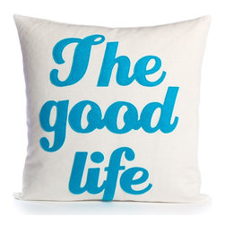 alexandra ferguson llc - The Good Life, Cream Canvas/Turquoise - It doesn't get much better than this. MADE IN THE USA