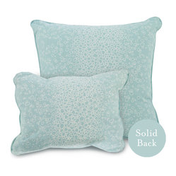 "Oilo - 13"" x 17"" Raindrops Pillow, Aqua - The water-drop effect of this design evokes the feeling of being at the spa or relaxing by a swimming pool. A couple of these 100 percent cotton throw pillows would be perfect cozying up on a sleek and modern couch. And the solid backside means you can easily change up the look just by turning over the pillow."