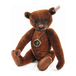 Nando Teddy Bear EAN 035166 - You'll never get lost in Paradise Jungle with Nando by your side. Around his neck, he wears a real operating compass, so you'll always know which direction you're headed. Nando is sewn from finest russet-tipped batik mohair - a very unique fabric. He is a showcase of the airbrusher's art, with painting around his nose, eyes, and ears. Nando's nose is hand-embroidered in chestnut floss framed by black thread. His claws and mouth are also black floss. He's 5-way jointed and the successor of Dante and Monty. Stay on the right course with Nando and you'll make the most of your time in Paradise Jungle.   Product details