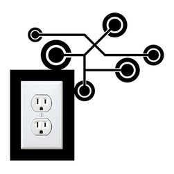 StickONmania - Outlet Circuit Sticker - A cool sticker for your wall outlet. Decorate your home with original vinyl decals made to order in our shop located in the USA. We only use the best equipment and materials to guarantee the everlasting quality of each vinyl sticker. Our original wall art design stickers are easy to apply on most flat surfaces, including slightly textured walls, windows, mirrors, or any smooth surface. Some wall decals may come in multiple pieces due to the size of the design, different sizes of most of our vinyl stickers are available, please message us for a quote. Interior wall decor stickers come with a MATTE finish that is easier to remove from painted surfaces but Exterior stickers for cars,  bathrooms and refrigerators come with a stickier GLOSSY finish that can also be used for exterior purposes. We DO NOT recommend using glossy finish stickers on walls. All of our Vinyl wall decals are removable but not re-positionable, simply peel and stick, no glue or chemicals needed. Our decals always come with instructions and if you order from Houzz we will always add a small thank you gift.