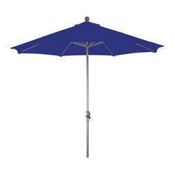 Phat Tommy - 9 Ft. Market Patio Umbrella in Royal Blue - Eight aluminum ribs