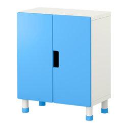 Ebba Strandmark - STUVA Storage combination with doors - Storage combination with doors, white, blue