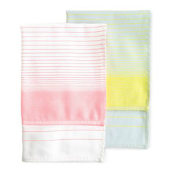 S&B Tea Towels - Tea towels are perfect in the kitchen or as decorative bathroom towels. Use them to add some pastel hues to any space.