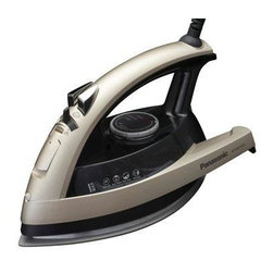 Panasonic - Panasonic Iron 1500 Watts With Steam Ceramic Plate - Concept 360 degree Quick Steam/Dry Iron with Curved Ceramic Coated Soleplate. Curved non-stick ceramic coated soleplate.  Multi-directional design with added steam vents.  3-way auto shut-off.  360 degree rotating cord.  Anti-calcium system.