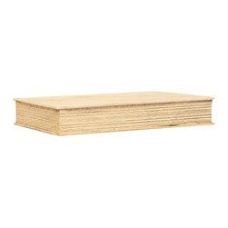 "Silver Nest - Faux ""Book"" Single Shelf- Set of 3- 11.75""l - Light Wood Boxed Shelf- Set of 3"