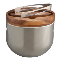 Nambe - Nambé Mikko Ice Bucket With Tongs - Made of durable stainless steel