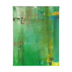 """N/A - 'Top Planes' Original Painting - """"Top Planes"""" by artist Dan Nash Gottfried takes a palette of vibrant green and adds layers of texture and color to draw the viewer in. It's an engaging piece that will grace your home artfully and beautifully."""