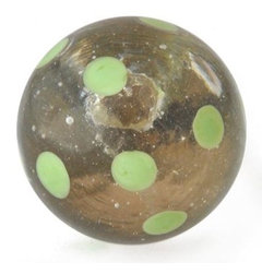 "Knobco - Polka Dotted Glass Knob, Clear knob with Green Polka dots - Clear knob with Green Polka dots glass knob. Unique glass knobs for your kitchen cabinets. 1.1"" in   diameter.  Includes screws for installation."