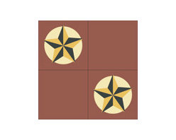 """""""Texas Star"""" 8x8 Encaustic Cement Tiles - """"Make every space Count"""" with Rustico Tile and Stone, wholesale flooring, global shipping."""