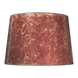 Design Classics Lighting - Mica Drum Lamp Shade - SH9585 - Looking for a stylish lamp shade for your living room? Pick up the mica drum lamp shade from Design Classics Lighting. This lamp shade is amber toned to match many interior styles. Its fitted with a spider assembly to ensure the right fit; this is a set of spokes attached to a center ring and then fitted to the bulb with an adjustable harp. The lamp is 11-inches wide in diameter at the top and 13-inches wide in diameter at the bottom, with a nine-inch slope. This mica drum shade is ready for use in any home. Dry location rated.