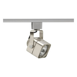 Juno Lighting - Trac-Lites R714 PAR16/MR16 GU10 Cube Track Light, R714sc - Die cast aluminum housing with die-formed steel yoke.