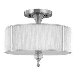 World Imports - World Imports WI8273 Contemporary / Modern Semi-Flush Ceiling Fixture from the B - *3 Light Semi Flush Fixture
