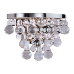 Bling Bubble Glass Ball Sconce with Nickel Finish - ORDER TODAY ON HOUZZ FROM LEE LIGHTING.