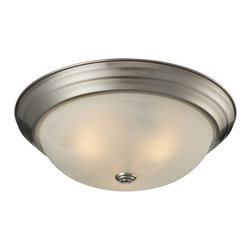 Z-Lite - Z-Lite Athena Ceiling Light X-3F0112 - Simple yet clean lines combined with a brushed nickel finish and a white swirl shade give this three light Ceiling Light lamp a sleek appearance.