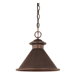 "World Imports - Dark Sky Essen 12"" 1- Light Hanging Light, Antique Copper - Weather resistant construction"