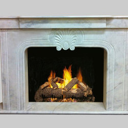 White Marble Decorative Hand Carved Fireplace Mantel Surround - White Marble Fireplace Surround. This stunning White marble Mantel Surround from our Mantels Collection has design elements. The luxury mantelpiece is hand-sculpted and made one-at-a-time by the hands of a skilled master craftsmen. Additionally, the carver carefully selected the high quality blocks so that true beauty of the stone shines through.