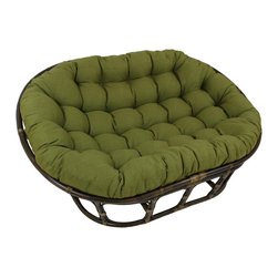 Blazing Needles - Blazing Needles 48x65-inch Indoor/ Outdoor Double Papasan Cushion - Add a touch of comfort and style to your home furnishings with this large indoor or outdoor double papasan cushion. Available in fourteen beautiful shades,this bold piece features a classic tufted cushion style.