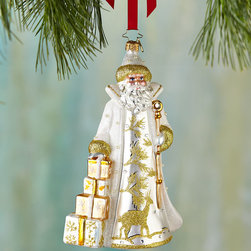 """Christopher Radko - Golden Frost St. Nicholas Christmas Ornament - Christopher RadkoGolden Frost St. Nicholas Christmas OrnamentDetailsMade of glass.Hand painted.7.5""""T.Made in Poland.Designer About Christopher RadkoFor more than 20 years Christopher Radko has been designing and producing handmade ornaments gifts and home decor for every special occasion and season that the calendar brings. His creations have become collectors' items favored gifts and keepsakes among those who give and receive them in celebration of life's milestones and memorable occasions."""