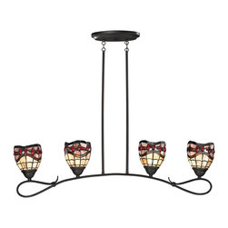 Dale Tiffany - Dale Tiffany Fall River Modern/ Contemporary Kitchen Island / Billiard Light - Dale Tiffany Fall River Modern / Contemporary Kitchen Island / Billiard Light X-72421HT
