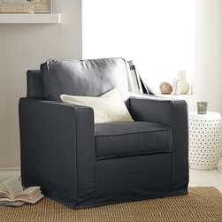 Henry Armchair Slipcover - Slipcovers are the simplest of solutions for transforming the look and feel of a room in an instant. These lightly textured linen-cotton covers are durable and easy to clean, which makes them the perfect choice for families with kids or in high-traffic rooms where the furniture gets sat in, flopped on and kicked around a lot.