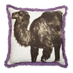 Thomas Paul - Camel Linen Pillow with Fringe design by Thomas Paul
