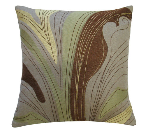 """KOKO - Dune Pillow, Brown/Cream 20"""" x 20"""" - You may not be trekking over any exotic sand dunes this year, but you can certainly dream! The soft earth tones in this pillow will have your imagination wandering far and wide. Pair this pillow with a collection of similar earth tones for calming and sophisticated look."""