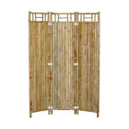 Bamboo54 - 3 Panel Outdoor Bamboo Privacy Screen - Set o - Add secluded splendor indoor or outside with this striking pair of bamboo screens. With an easy-fold 3 panel configuration, bamboo frame, generous proportions and crisp design lines it's sure to garner attention. Typical Bamboo 54 quality, value and style * 3 Panel bamboo screen. Sold in pairs only. Made of Bamboo. No assembly required. 48 in. W x 63 in. H