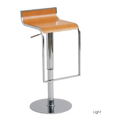 Nero Bar Stool, Light Wood, Set of 2