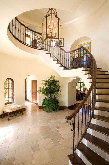 Mediterranean Staircase by Smith Firestone Associates
