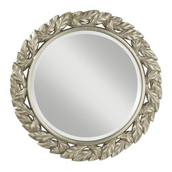 Murray Feiss - Murray Feiss Leaves Traditional Round Mirror X-FLSA4411RM - Murray Feiss Leaves Traditional Round Mirror X-FLSA4411RM