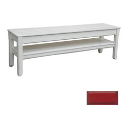 Tradewinds - Coastal Plank Console or Bench, Red - The timeless, cottage plank console/bench will be an ideal addition to any home. Stylish and practical, this hand painted furniture piece comes with lower shelf thus offers plenty of storage space. This well-made piece is made using quality hardwoods to give durable performance.
