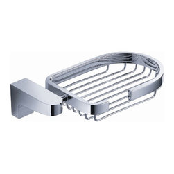 Fresca - Fresca Generoso Soap Basket - Chrome - All of our Fresca bathroom accessories are made with brass with a triple chrome finish and have been chosen to compliment our other line of products including our vanities, faucets, shower panels and toilets.  They are imported and selected for their modern, cutting edge designs.