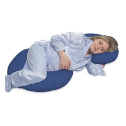 Leachco - Leachco Snoogle Total Body Pregnancy Support and Feeding Pillow in Navy - If you are like most people, one pillow throughout the night is just not enough. The Snoogle is uniquely designed to follow the natural contour and shape of your body from head to toe.