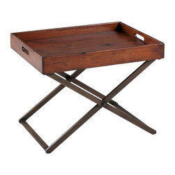 Cooper Classics - Cooper Classics Perera Cocktail Table, Distressed Brown - -Distressed Brown finish