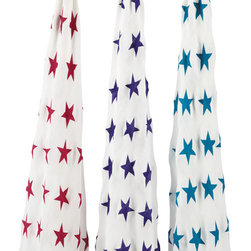Aden and Anais - Aden and Anais Celebration Bamboo Swaddles Set of 3 - The ultimate in swaddling comfort brought to you and baby by bamboo!