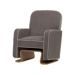 Cole Glider By Nurseryworks - A contemporary reinvention of the classic rocking chair,the Cole Glider and Ottoman offer the modern mom and/or dad a comfy place to soothe a restless baby.