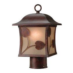 Hardware House - Electrical - 10-3602 Pbrz 1-Light Outdoor Light - Madison Outdoor Post Light Fixture