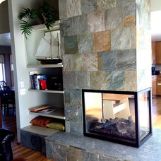 Indoor Fireplaces by Moceri Construction