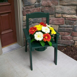 Prairie Leisure - Prairie Leisure Decorative Chair Planter Holder - 60-UNFINISHED - Shop for Planters and Pottery from Hayneedle.com! Add a charming accent to any outdoor space with the Prairie Leisure Decorative Chair Planter Holder. Crafted as a decorative patio chair this planter is made of durable aspen woods and available in a variety of attractive colors. The center hole accommodates a 10-inch pot.About Prairie LeisureLocated in Pierz Minn. Prairie Leisure Design manufactures casual outdoor furniture. Their products have a traditional design and are made in the USA from Red Cedar or Aspen a North American hardwood. They offer a wide variety of products designed for every age group: elderly adults juniors and kids. Ideal for relaxing and socializing in the great outdoors Prairie Leisure Design furniture adds comfort and style to any backyard or patio.