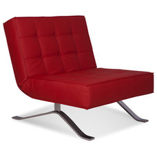 Modern Living Room Chairs Wave One Red Lounge Chair