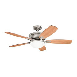 "Kichler - 52"" Carlson 52"" Ceiling Fan Antique Pewter - Kichler 52"" Carlson Model KL-300138AP in Antique Pewter with Cherry finished blades."