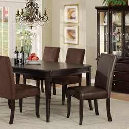 7 Pieces Dark Cherry Wood Classic Formal Dining Room Set - Set Includes 1 Dining Table, 2 Arm Chair and 4 Side Chair