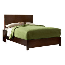 Modus Furniture - Modus Modera 3-Piece Panel Bedroom Set in Chocolate Brown - The combination of sleek lines, oversized drawers and quality construction make Madera from Modus the ultimate value statement in bedroom furniture.