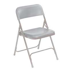 National Public Seating - National Public Seating 800 Series Premium Lightweight Plastic Folding Chair in - Behold a chair that incorporates the strength of a metal folding chair with the benefits of a plastic folding chair. Plastic seats and back will not fade, will not rust and are not cold to the touch like steel chairs! Perfect for indoor and outdoor events such as meetings, graduation, reception, worship centers, and more. Using these chairs with a chair truck or dolly will make them enormously portable.