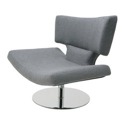 "Nuevo Living - Harper Lounge Chair in Light Grey Wool Upholstery by Nuevo - HGDJ752 - The Harper Lounge Chair in Light Grey Wool Upholstery by Nuevo features light grey wool, CFS foam cushions, and a high polish stainless steel frame. Seat height:  14.25"".  Seat depth:  19.75""."